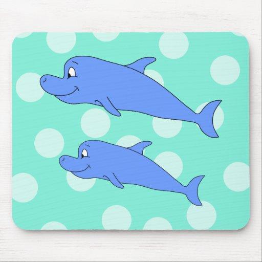 Delfínes azules alfombrillas de ratones