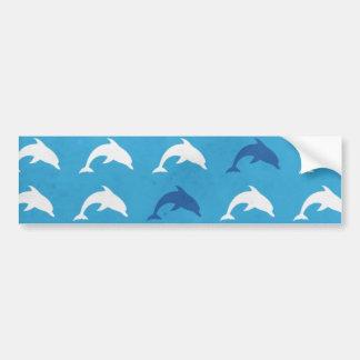 Delfínes azules pegatina para auto