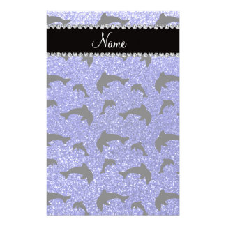 Delfínes azules de neón conocidos personalizados d papeleria personalizada