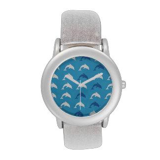 Delfínes azules reloj de mano