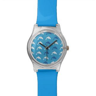 Delfínes azules relojes de mano