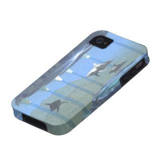 Delfínes bajo caso del ambiente 4S del iPhone 4 de iPhone 4 Fundas