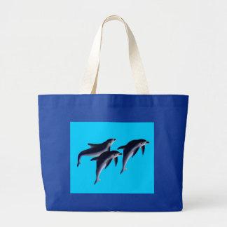 Delfines Bolsa De Tela Grande