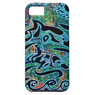 Delfínes brillantemente coloreados iPhone 5 cobertura