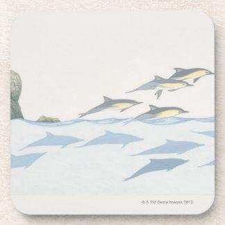 Delfínes comunes posavasos de bebidas
