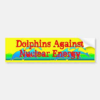Delfínes contra Anti-Arma nuclear de la energía nu Pegatina De Parachoque