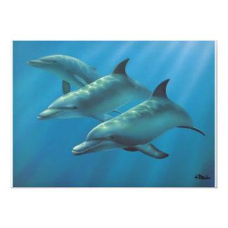 """Delfínes de Andrew Patsalou Invitación 5"""" X 7"""""""