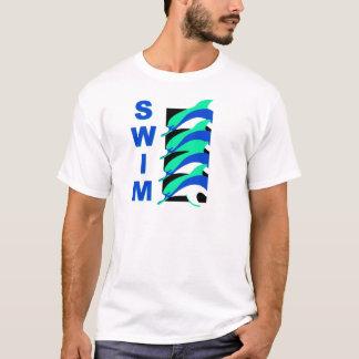Delfínes de la nadada playera