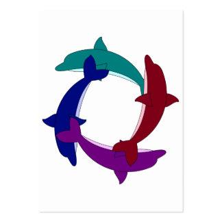 Delfínes de la natación tarjetas de visita grandes