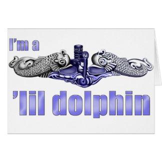 Delfínes de la plata del delfín de Lil Tarjeta De Felicitación