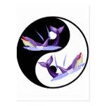 Delfínes de Yin Yang Postal