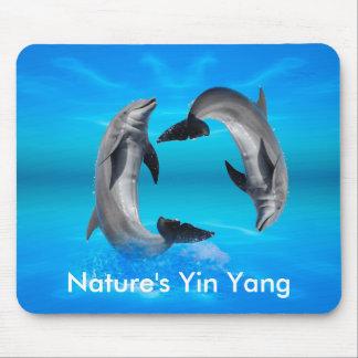 Delfínes de Yin Yang Alfombrilla De Ratón