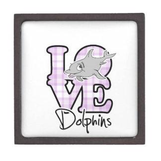 Delfínes del amor cajas de joyas de calidad