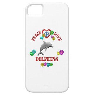 Delfínes del amor de la paz iPhone 5 Case-Mate cobertura