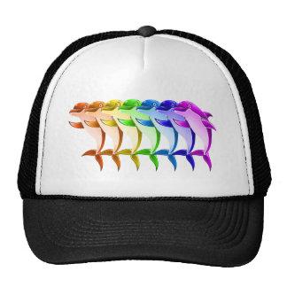 Delfínes del arco iris gorros bordados