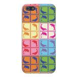 Delfínes del arte pop iPhone 5 fundas