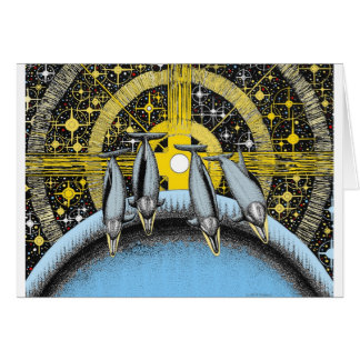 Delfínes del espacio tarjeta