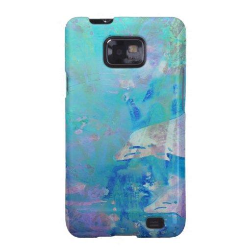 Delfínes digitales contemporáneos del arte del © P Galaxy S2 Fundas