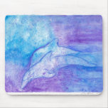 Delfínes en azul alfombrilla de ratones