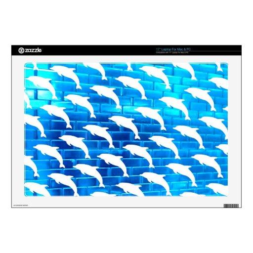 Delfínes en el hielo calcomanías para portátiles