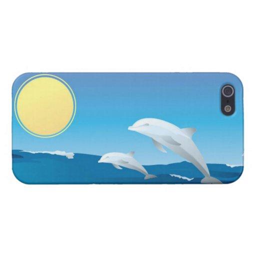 Delfínes en el juego iPhone 5 fundas
