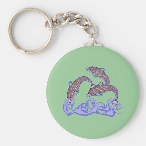 Delfínes en el llavero del juego