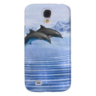 Delfínes en el mar azul claro funda para galaxy s4