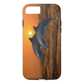 Delfínes en la puesta del sol funda iPhone 7