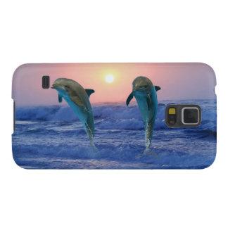 Delfínes en la salida del sol carcasas para galaxy s5