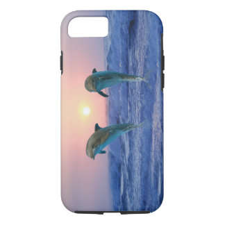 Delfínes en la salida del sol funda iPhone 7