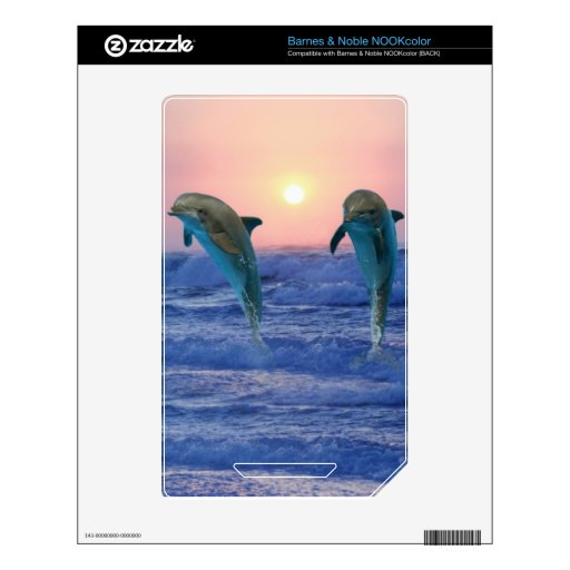 Delfínes en la salida del sol NOOK color skin
