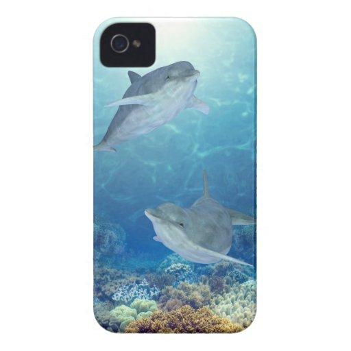 delfínes felices funda para iPhone 4