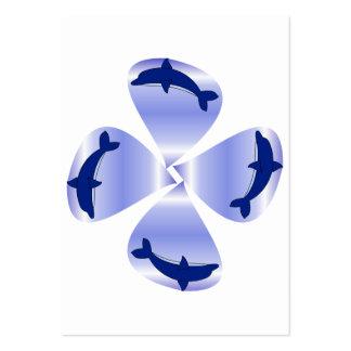 Delfínes florecientes tarjetas de visita grandes