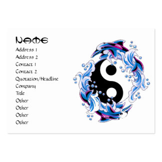 Delfínes frescos de Yin Yang del símbolo del Tarjetas De Visita Grandes