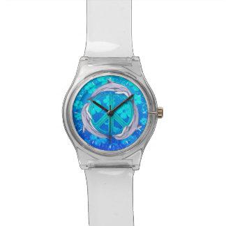 Delfínes hawaianos de la paz relojes de pulsera