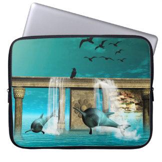 Delfínes hermosos, lindos funda portátil