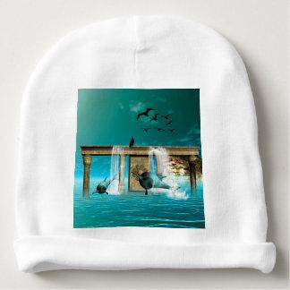 Delfínes hermosos, lindos gorrito para bebe