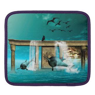 Delfínes hermosos, lindos mangas de iPad