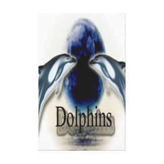 delfínes impresión en lienzo estirada