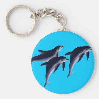 Delfines Llavero Redondo Tipo Pin