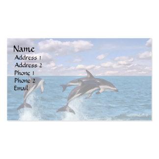 Delfínes oscuros en el juego tarjetas de visita