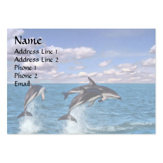 Delfínes oscuros en el juego tarjetas de visita grandes