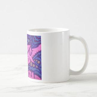 delfínes. .pink taza básica blanca