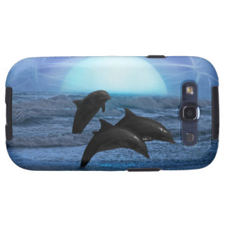 Delfínes por claro de luna carcasa para galaxy SIII