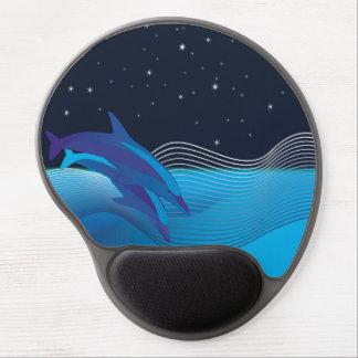 Delfínes por el gel Mousepad de la noche Alfombrillas Con Gel