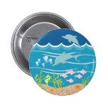 Delfínes que juegan en el mar salvaje pin