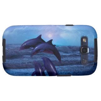 Delfínes que juegan en el océano carcasa para galaxy s3