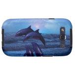 Delfínes que juegan en el océano galaxy SIII carcasa