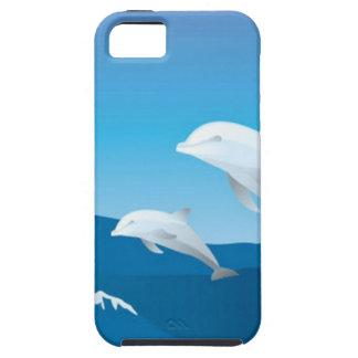 Delfínes que nadan en el diseño del océano funda para iPhone SE/5/5s