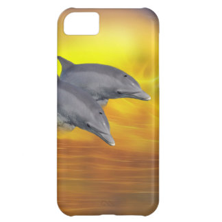 Delfínes que practican surf las ondas funda iPhone 5C